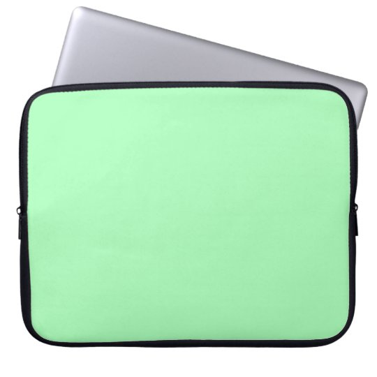 Solid Color Mint Green Laptop Sleeve Zazzlecom