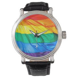 Solid Pride - Gay Pride Flag Closeup Watch