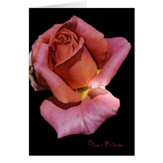 Solitude Rose card