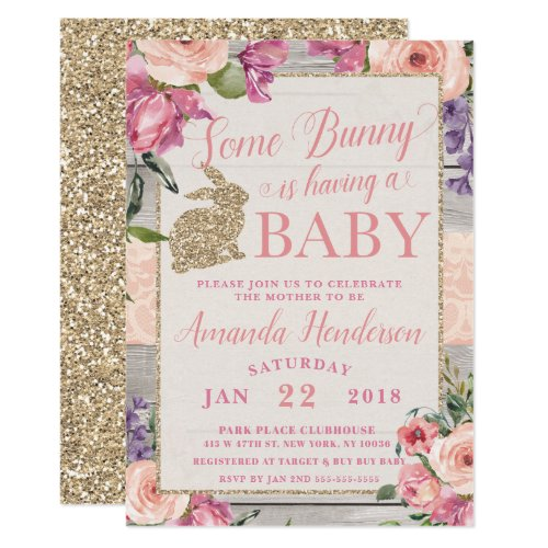 Some Bunny Easter Baby Shower Invitation