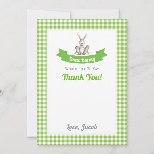 Some Bunny Thank You Card (Flat)
