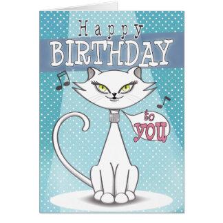 Cat Singing Happy Birthday Gifts On Zazzle