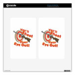 Soot Eye Out Decal For Kindle Fire