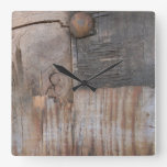 Sound Wood I Square Wall Clock