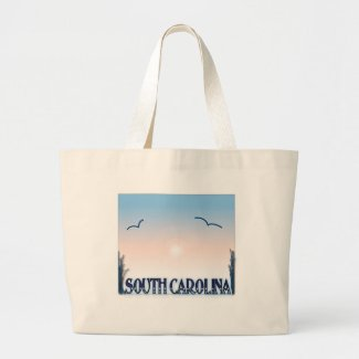South Carolina Airbrush Sunset Tote Bags