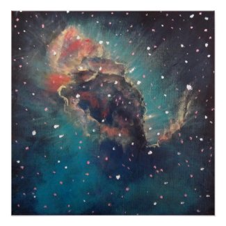 Space Art Poster - Carina Nebula by Alizey Khan print
