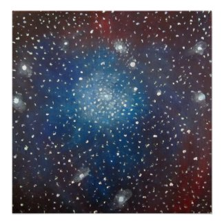 Space Art Poster - Coronet Cluster Painting print