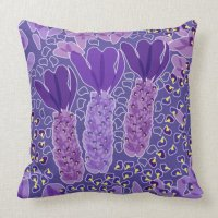 Spanish lavender throw pillow | Zazzle