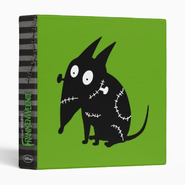 Sparky Sitting Silhouette 3 Ring Binder