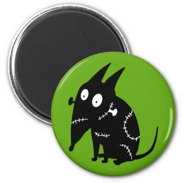 Sparky Sitting Silhouette Magnet