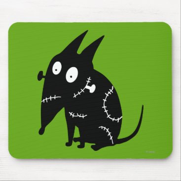 Sparky Sitting Silhouette Mouse Pad