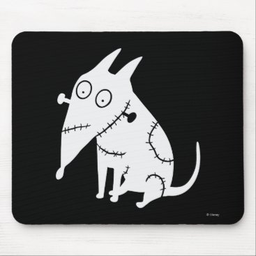 Sparky Sitting White Mouse Pad