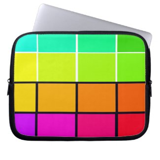 Spectrum Colorful 6 Zippered Soft Laptop iPad Case