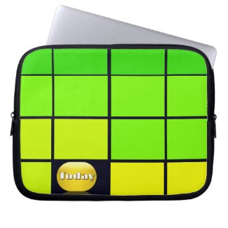 Spectrum Colorful 9 Zippered Soft Laptop iPad Case Laptop Computer Sleeve