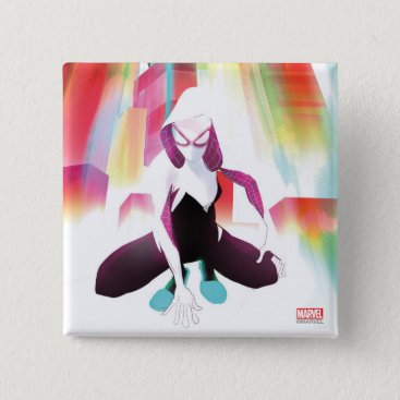 Spider-Gwen Neon City Pinback Button