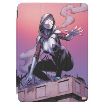 Spider-Gwen On Rooftop iPad Air Cover