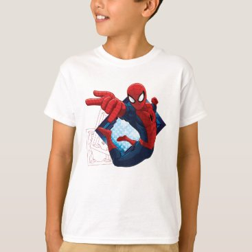 Spider-Man Action Character Badge T-Shirt