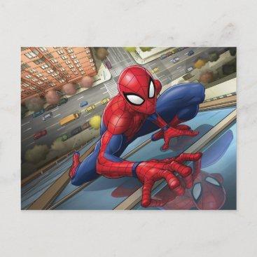 Spider-Man | Climbing Up Building Postcard
