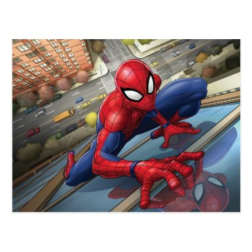 Spider-Man | Climbing Up Building Postcard