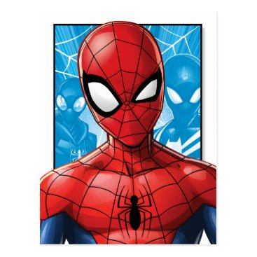 Spider-Man | Close-up Expression Comic Panel Postcard