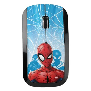 Spider-Man | Close-up Expression Comic Panel Wireless Mouse