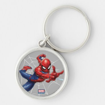 Spider-Man | Geometric Character Art Pattern Keychain