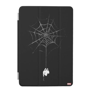 Spider-Man Hanging From Web Silhouette iPad Mini Cover