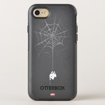 Spider-Man Hanging From Web Silhouette OtterBox Symmetry iPhone 8/7 Case