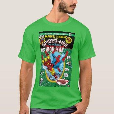 Spider-Man & Iron Man Marvel Team-Up Comic Cover T-Shirt