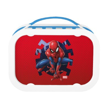 Spider-Man Leaping Out Of Spider Graphic Lunch Box