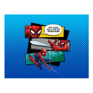 """Spider-Man   """"Looks Like A Job For Spider-Man"""" Postcard"""