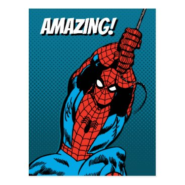 Spider-Man Retro Web Swing Postcard