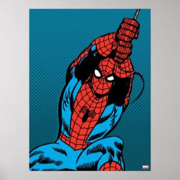 Spider-Man Retro Web Swing Poster