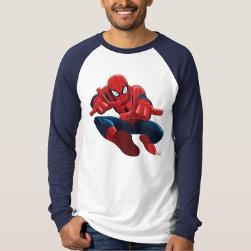 Spider-Man Shooting Web High Above City T-Shirt