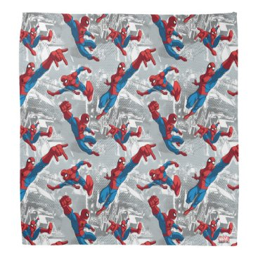 Spider-Man Swinging Over City Pattern Bandana