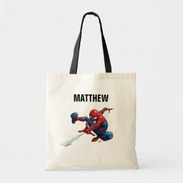Spider-Man Web Slinging By Train Tote Bag