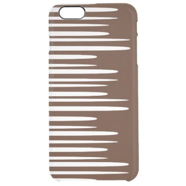Spiked Stacked White Lines Clear iPhone 6 Plus Case