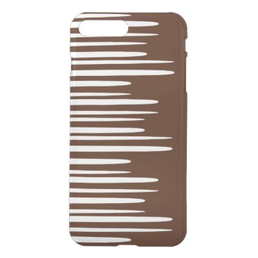 Spiked Stacked White Lines iPhone 8 Plus/7 Plus Case