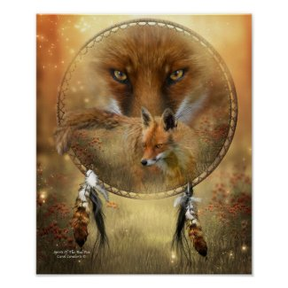 Spirit Of The Red Fox Art Poster/Print
