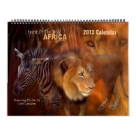 Spirit Of The Wild - AFRICA Art Calendar 2013