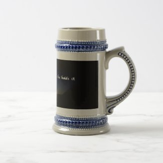 Spiritual quote 18 oz beer stein