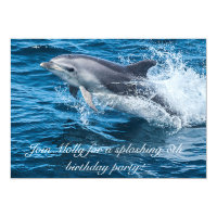 Splashing Dolphin Birthday Invitations