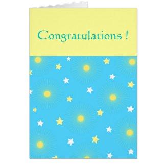 Splashing stars greeting cards