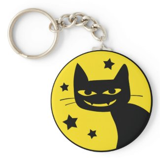 Spooky Cat keychain