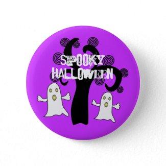 Spooky Halloween - Pin button button