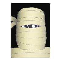 Spooky Mummy Head Halloween Party Invitation