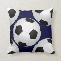 sports soccer throw pillow | Zazzle