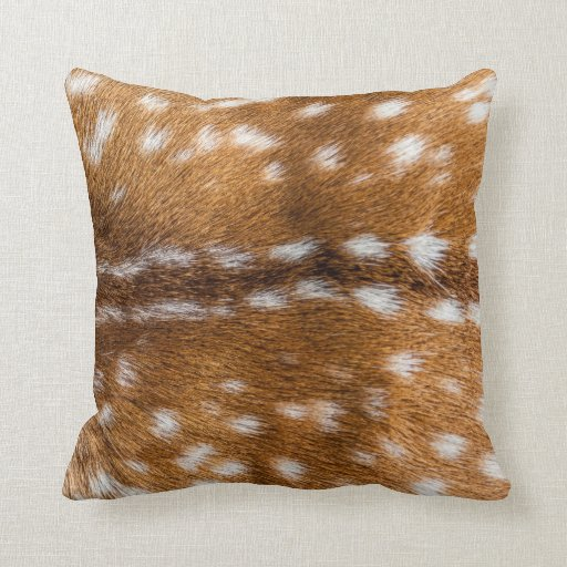 Spotted deer fur texture throw pillow  Zazzle