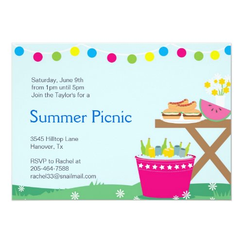 Spring Backyard Barbecue Party Invitations