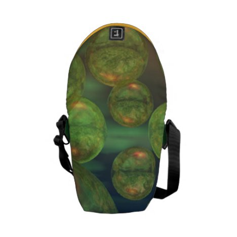Spring Creation Abstract Green & Gold Renewal Mini Messenger Bag